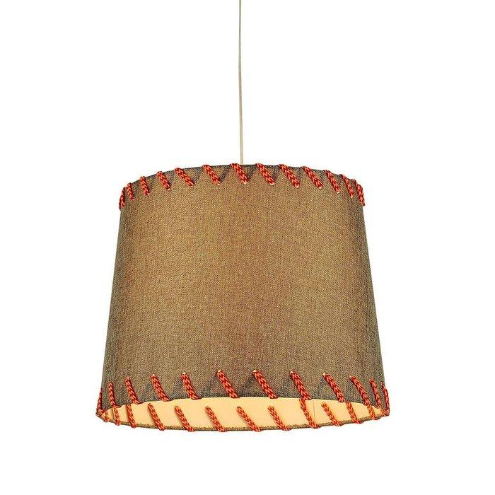 Подвесной светильник с серым абажуром