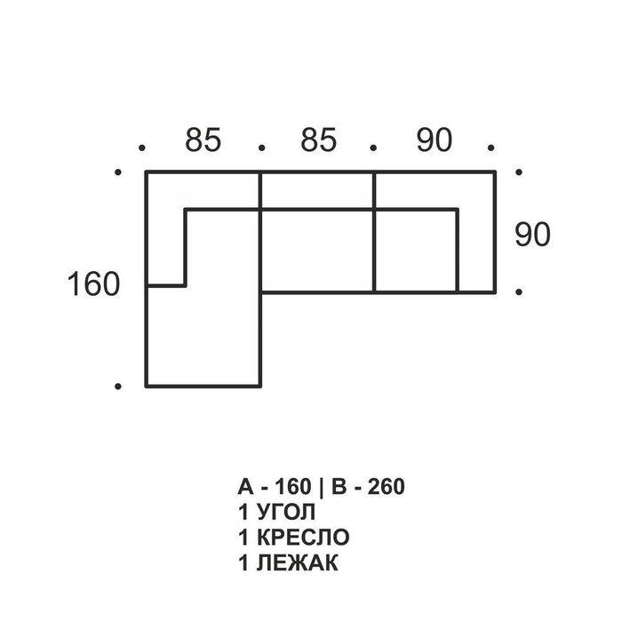Сет из модулей Flat Design 3mods коричневого цвета