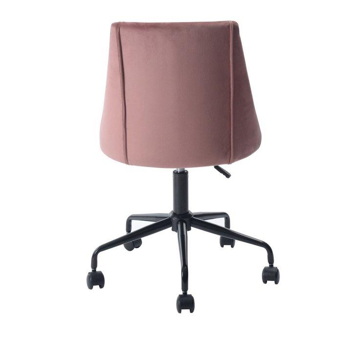 Кресло офисное Сиана розового цвета