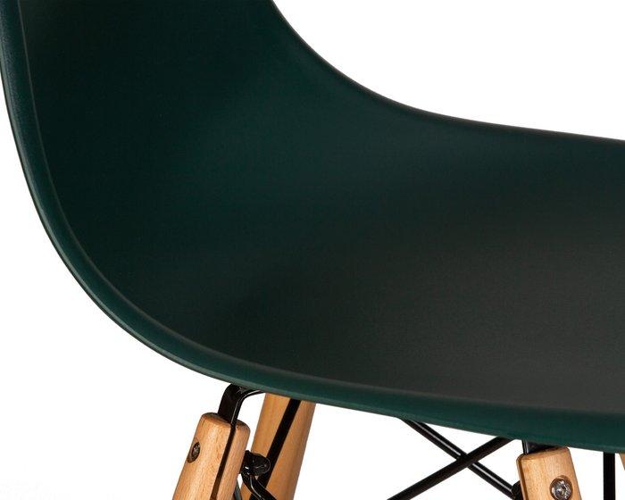 Стул барный темно-зеленого цвета