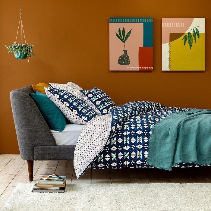 Прикроватный коврик Afaw из искусственной шерсти с длинным ворсом розового цвета 60x110 см
