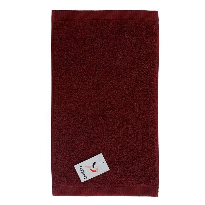 Полотенце для лица из хлопка бордового цвета