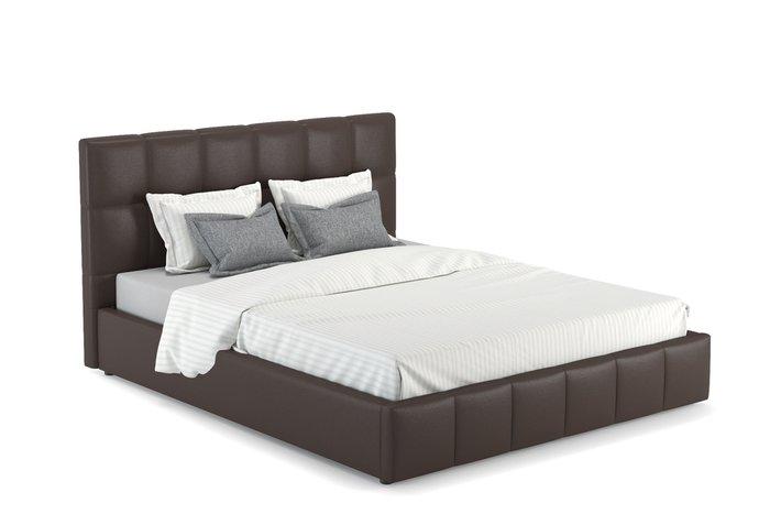 Кровать Хлоя 160х200 темно-коричневого цвета без подъемного механизма