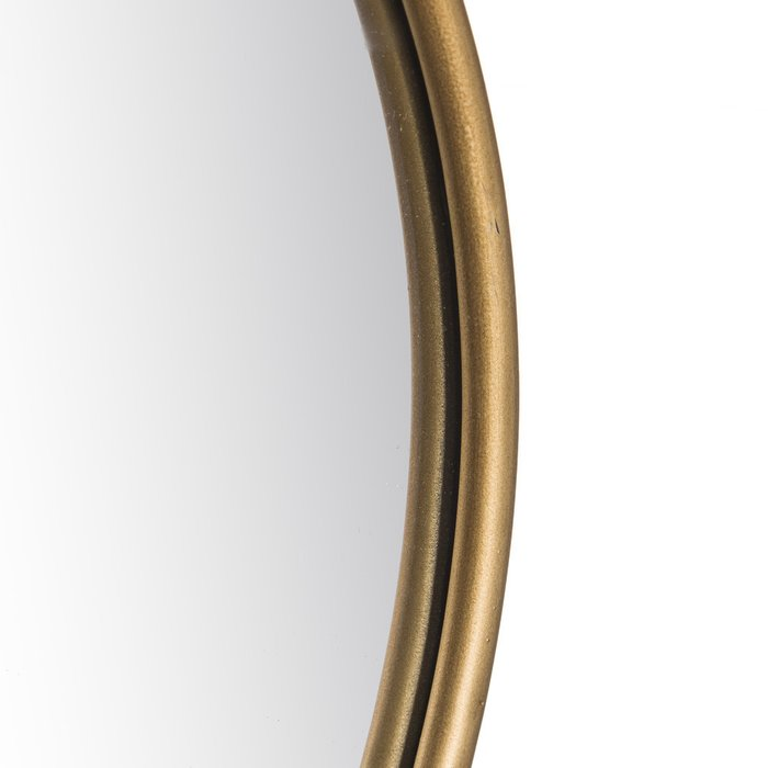 Зеркало настенное в металлической раме золотого цвета