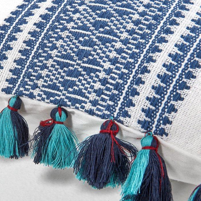 Чехол на подушку Bertie Cushion cover с синим орнаментом