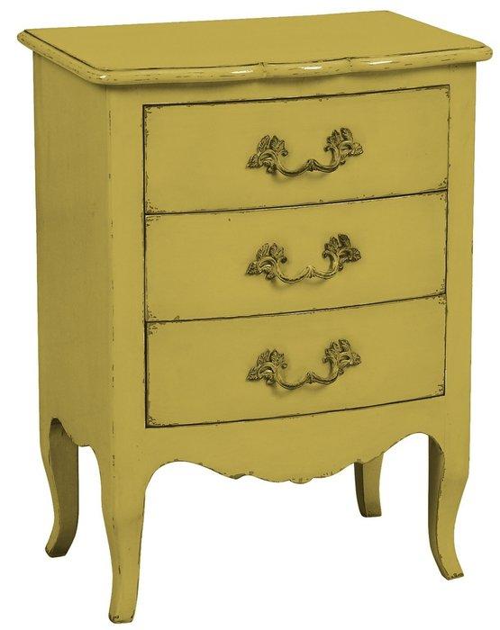Комод малый Флоранс желтого цвета