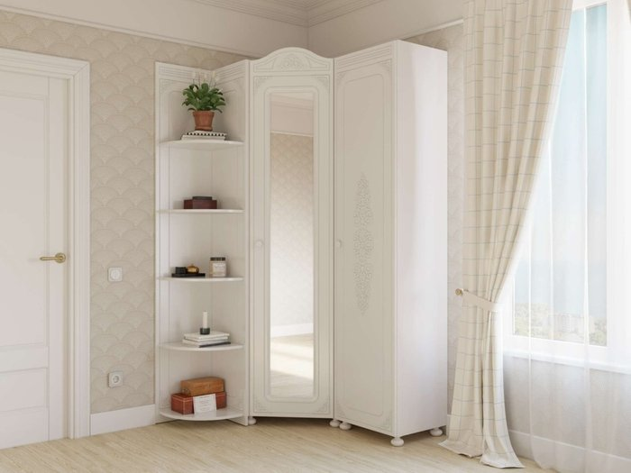 Шкаф Ассоль левый белого цвета