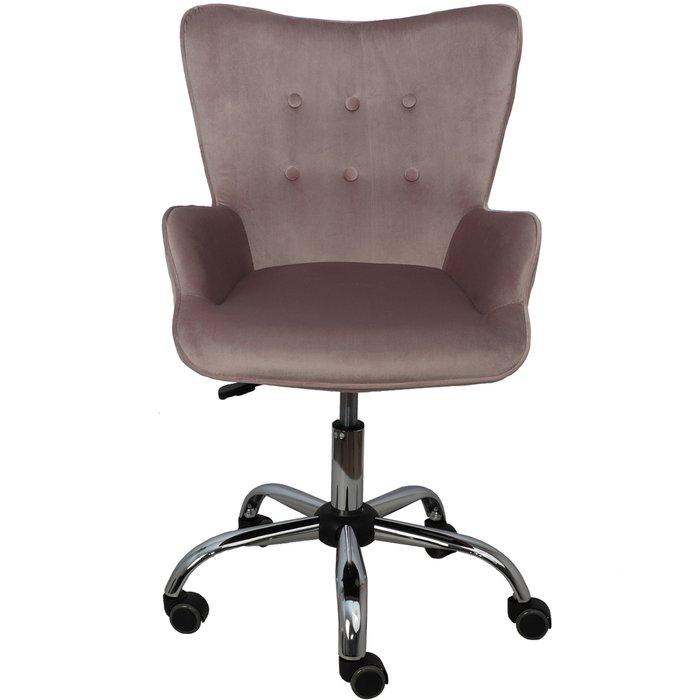 Компьютерное кресло Bella серо-розового цвета
