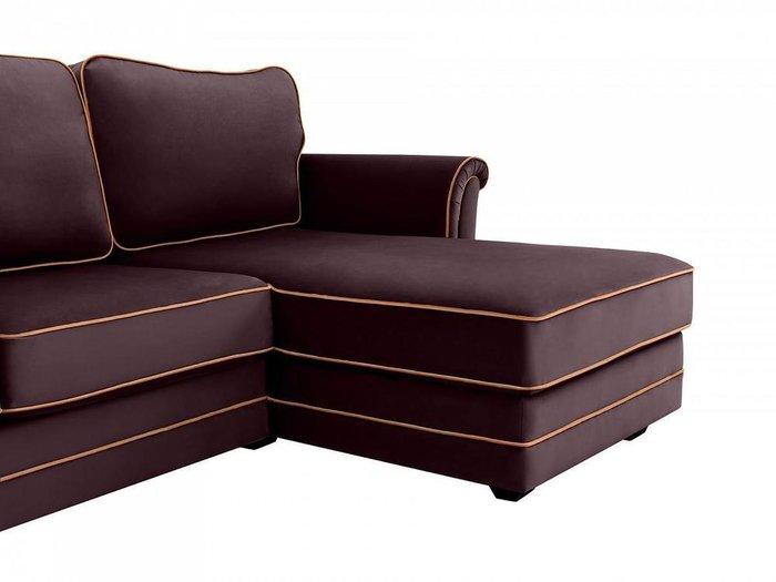 Угловой диван-кровать Sydney фиолетового цвета