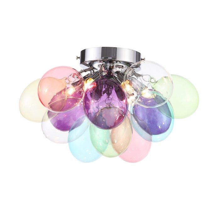 Потолочная люстра Sospiro с разноцветными плафонами