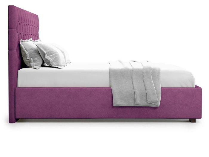 Кровать с подъемным механизмом Nemi 160х200 фиолетового цвета