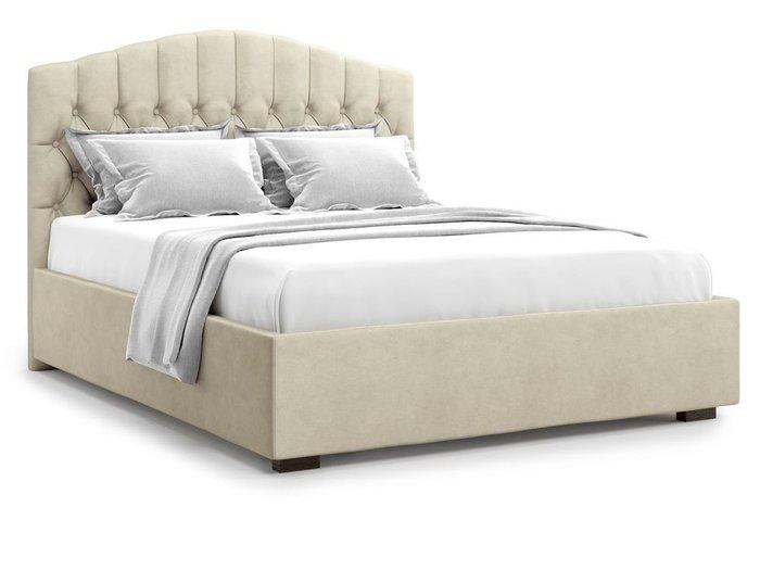 Кровать с подъемным механизмом Lugano 140х200 бежевого цвета