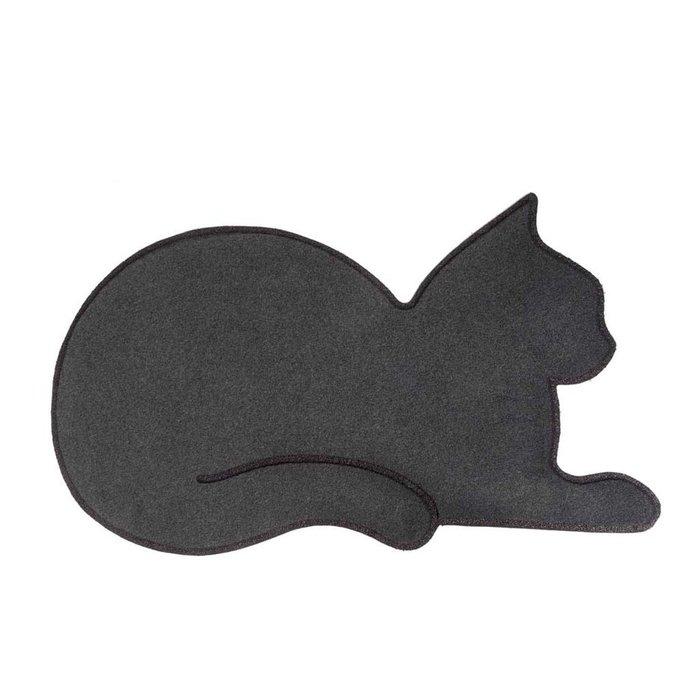 Коврик придверный Cat серого цвета