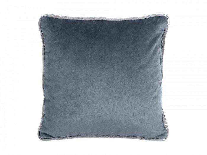 Подушка декоративная Boxy серо-синего цвета