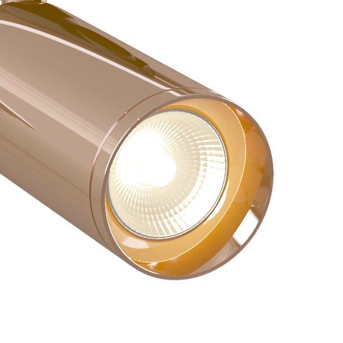 Трековый светодиодный светильник Track lamps цвета розовое золото