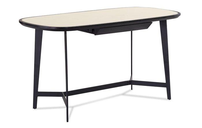 Стол письменный Bernard бежевого цвета на металлическом каркасе черного цвета