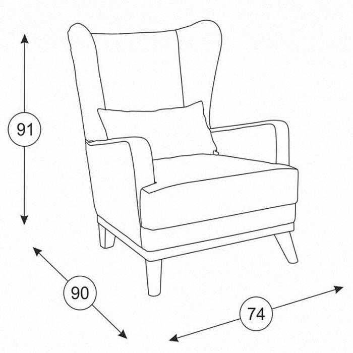 Кресло Оскар в обивке из велюра зеленого цвета