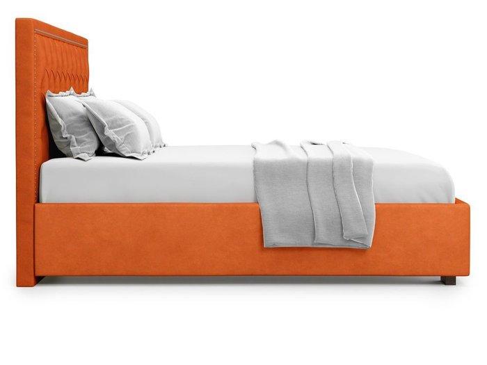 Кровать с подъемным механизмом Orto 180х200 оранжевого цвета