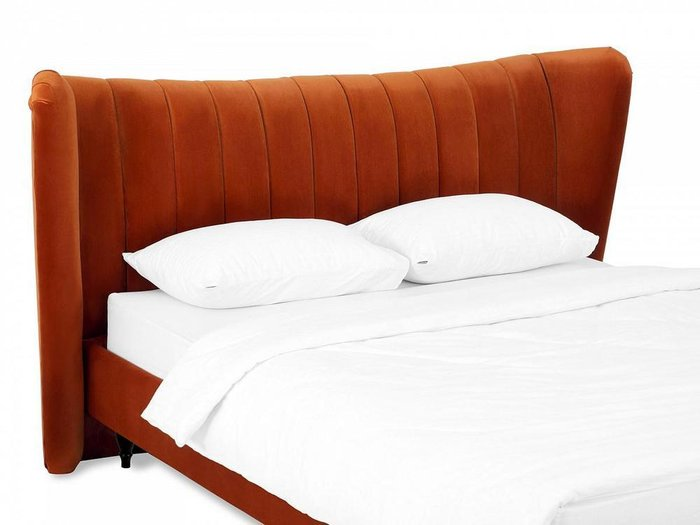 Кровать Queen Agata L 160х200 терракотового цвета