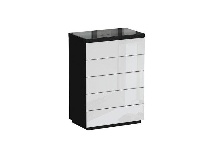 Комод Kristal черно-белого цвета