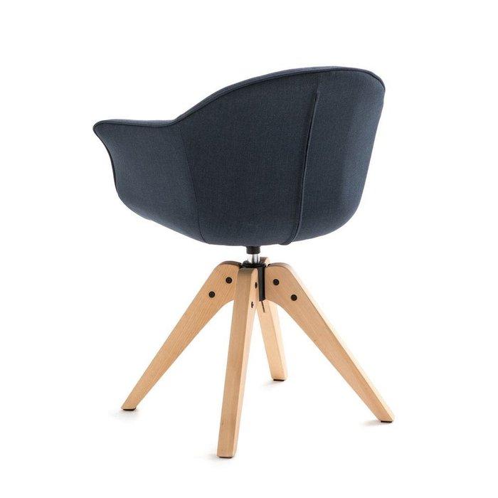 Офисное вращающееся кресло Quilda синего цвета