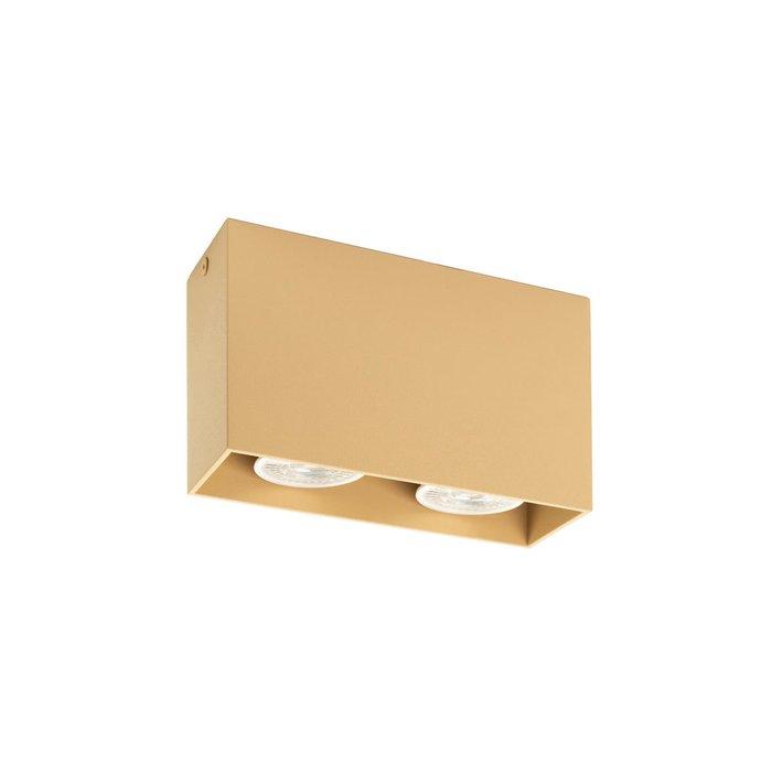 Точечный накладной светильник из металла бежевого цвета
