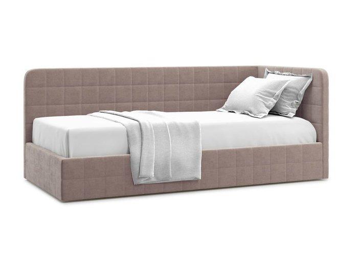 Кровать с подъемным механизмом Tichina 90х200 темно-бежевого цвета