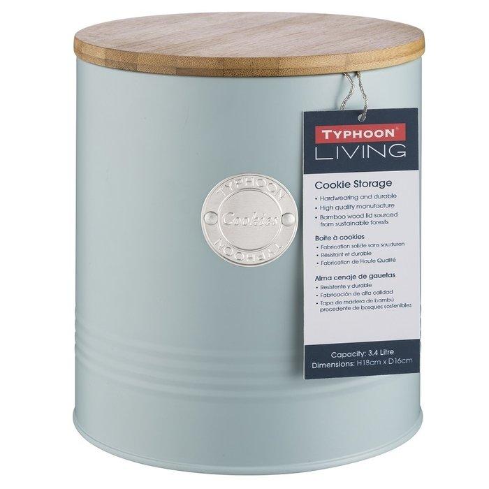 Емкость для печенья Living голубого цвета