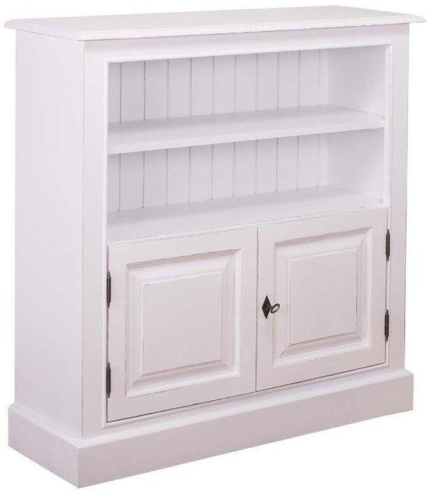 Книжный шкаф большой Брюгге белого цвета