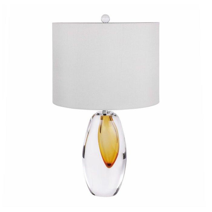 Настольная лампа с белым абажуром