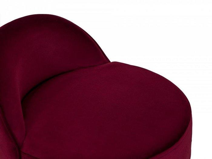 Пуф со спинкой Axel бордового цвета