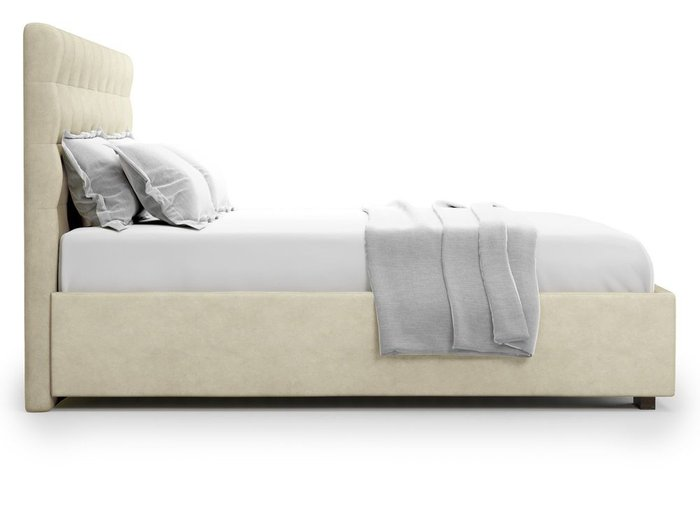 Кровать с подъемным механизмом Brayers 160х200 бежевого цвета