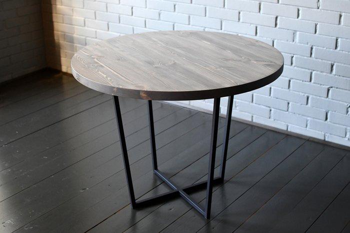 Круглый стол Round Gray со столешницей из массива сосны