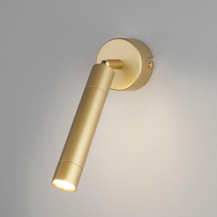 Настенно-потолочный светодиодный светильник Strong цвета матовое золото