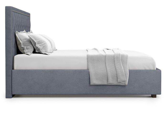 Кровать с подъемным механизмом Orto 160х200 серого цвета