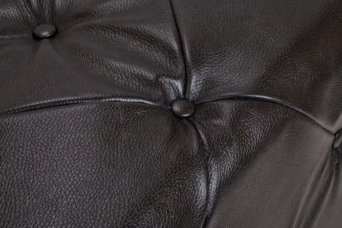 Пуф Amrit black leather черного цвета