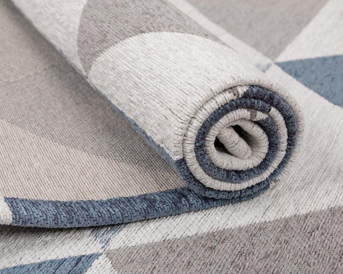 Ковер Line Olaf серо-синего цвета 135х200