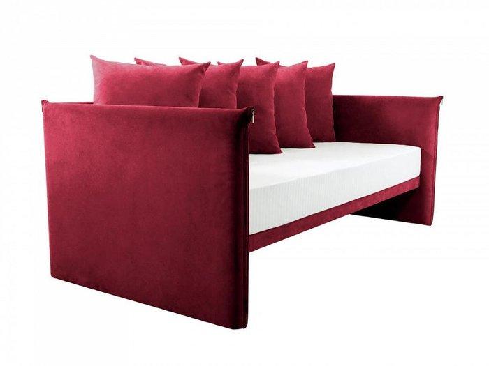 Кушетка-кровать Milano красного цвета