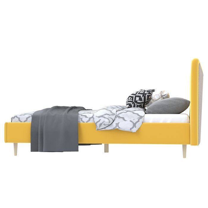 Кровать Финна 160x200 желтого цвета