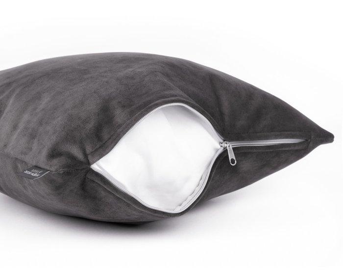 Декоративная подушка Goya grafit темно-серого цвета