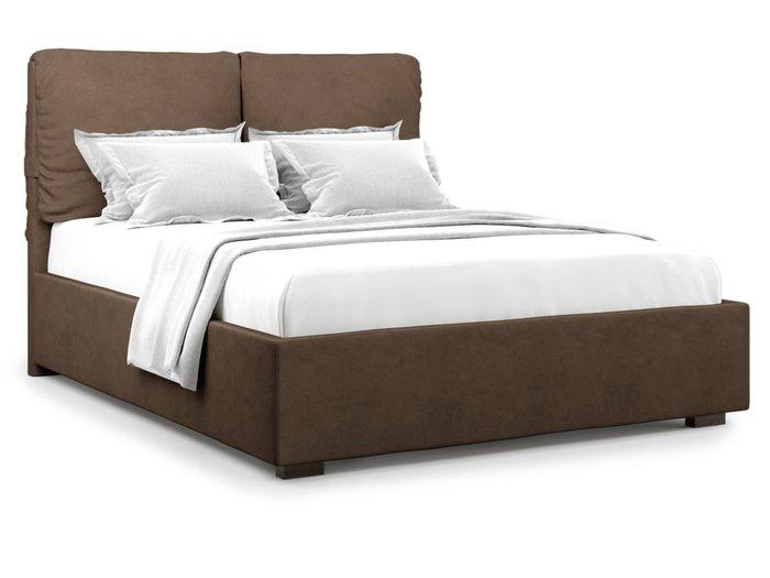 Кровать Trazimeno 140х200 коричневого цвета с подъемным механизмом