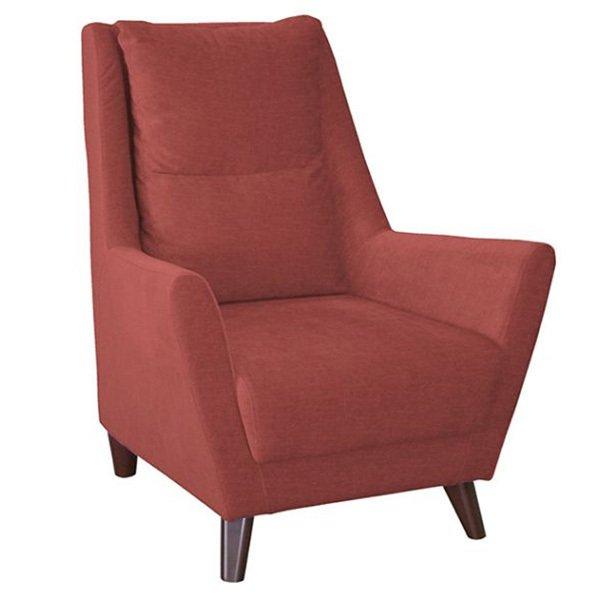 Кресло Дали в обивке из велюра красного цвета