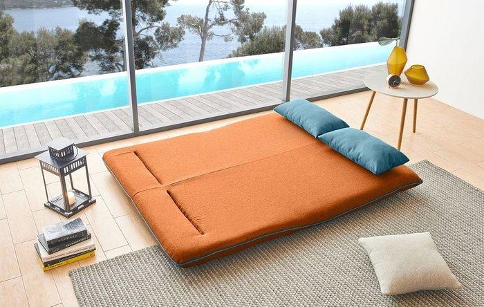 Диван-кровать Justin оранжево-бирюзового цвета