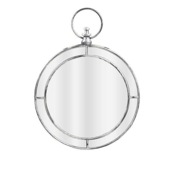 Зеркало настенное в серебристой раме