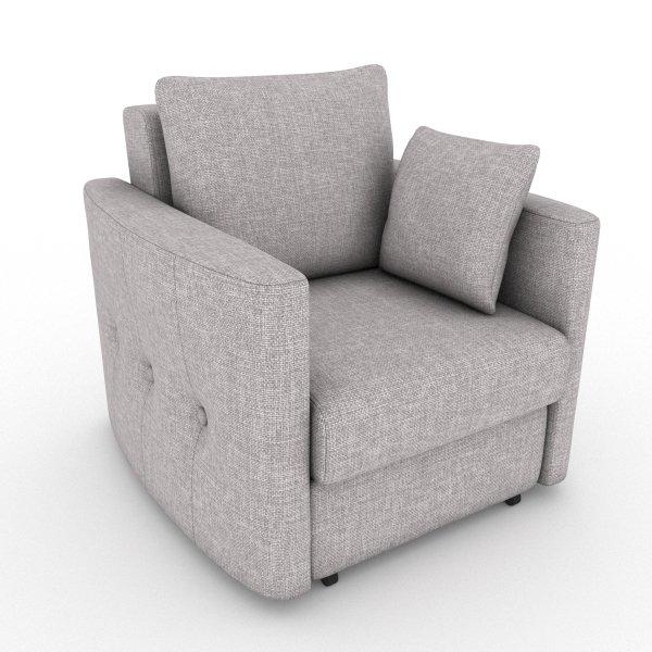 Кресло-кровать Luna серого цвета