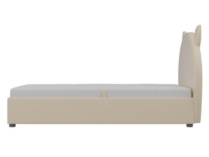 Детская кровать Бриони 82х188 бежевого цвета с подъемным механизмом (экокожа)