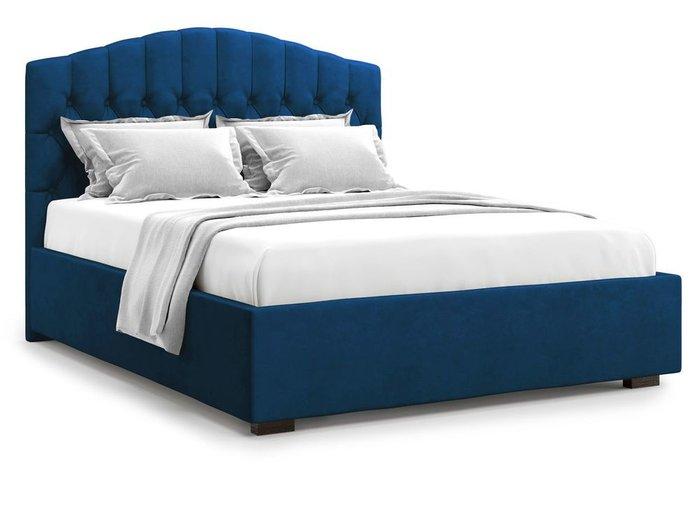 Кровать с подъемным механизмом Lugano 140х200 синего цвета
