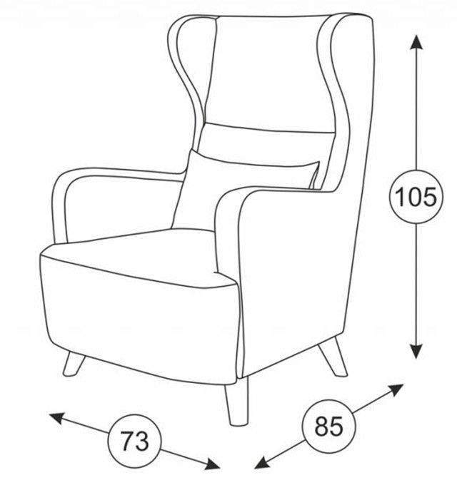 Кресло Меланж в обивке серого цвета