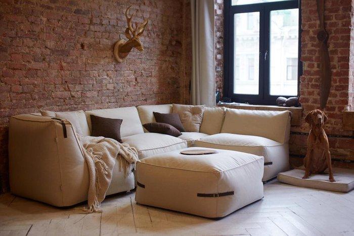 Модульный диван Ivonne Premium c ремешками из кожи