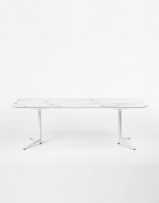 Обеденный стол Multiplo XL белого цвета